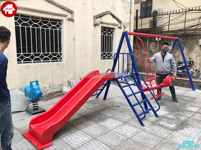 Sản xuất lắp đặt đồ chơi ngoài trời cho khách hàng tại Đông Anh, Hà Nội-4