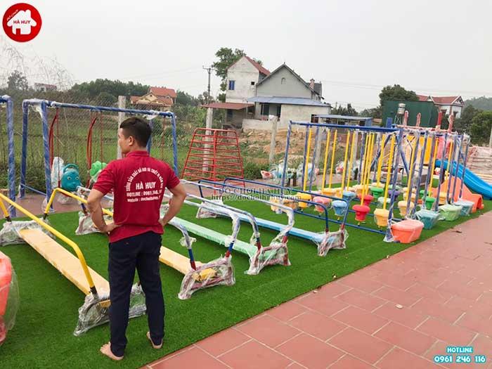 Sản xuất lắp đặt đồ chơi ngoài trời cho bé mầm non tại Hà Tĩnh-1