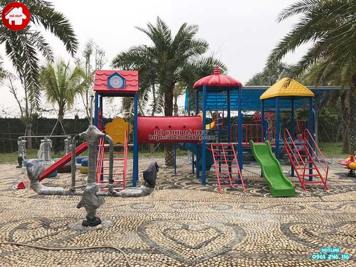 Sản xuất lắp đặt đồ chơi ngoài trời cho bé trường mầm non tại Hải Dương-7