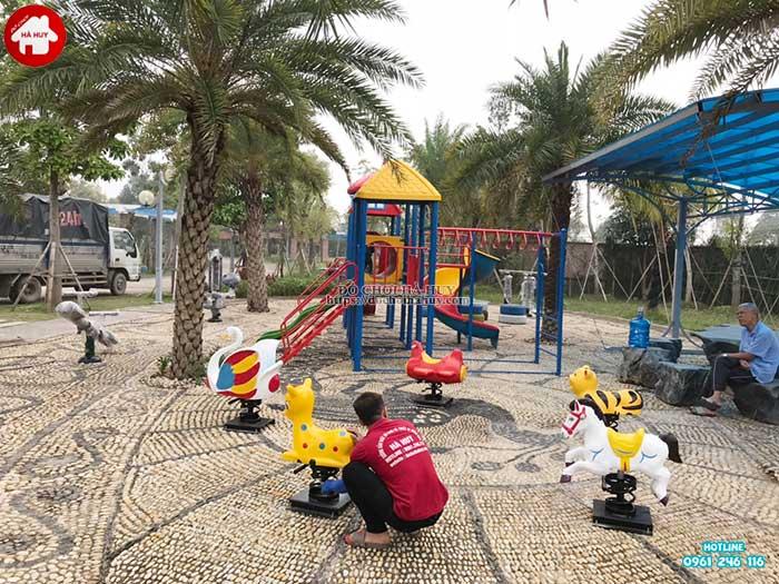 Sản xuất lắp đặt đồ chơi ngoài trời cho bé trường mầm non tại Hải Dương-8