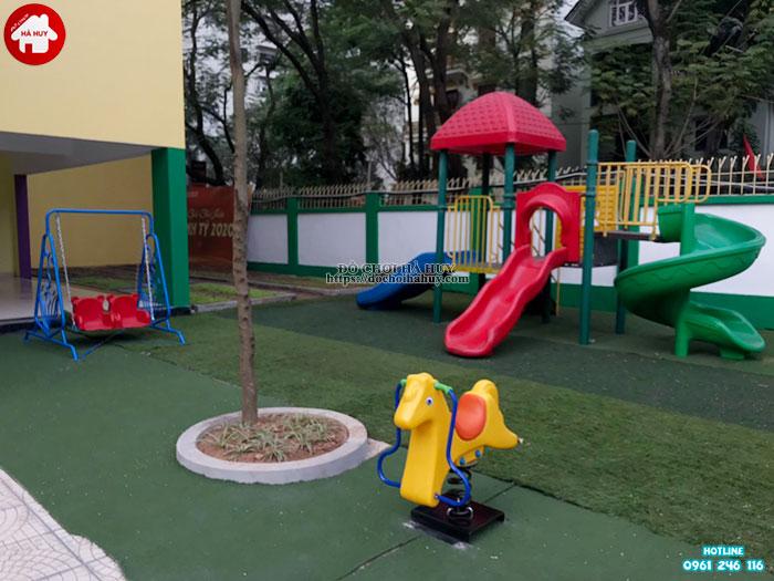 Sản xuất lắp đặt đồ chơi ngoài trời cho trường mầm non tư thục Lomoxop tại Hà Nội-1