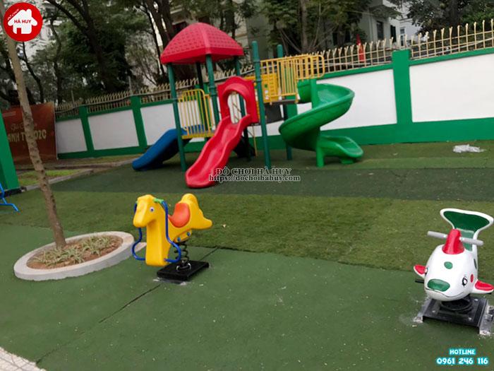 Sản xuất lắp đặt đồ chơi ngoài trời cho trường mầm non tư thục Lomoxop tại Hà Nội-3