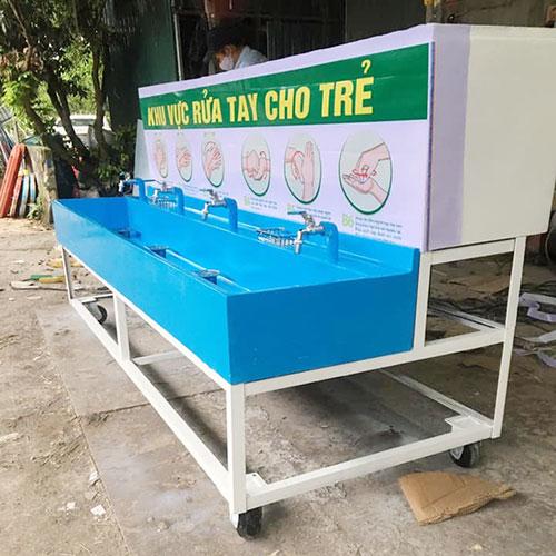 Bồn rửa tay bằng composite cho trường mầm non