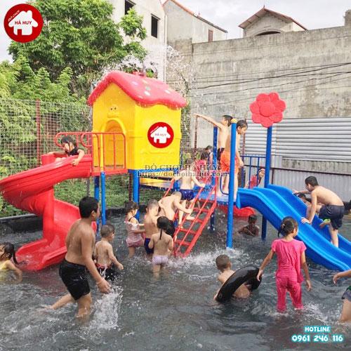 Bộ cầu trượt cho bể bơi giá rẻ đẹp HB12-011