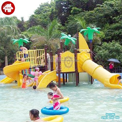 Bộ cầu trượt liên hoàn đa năng cho bể bơi HB12-009
