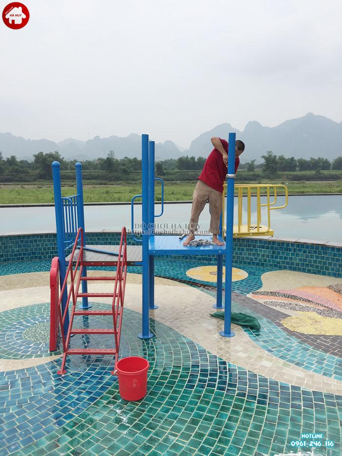 Cầu trượt liên hoàn cho bể bơi cao cấp HB12-012-3