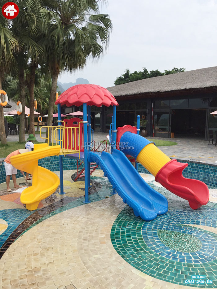 Cầu trượt liên hoàn cho bể bơi cao cấp HB12-012-4