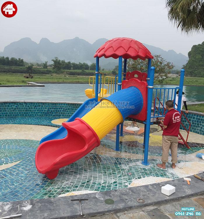Cầu trượt liên hoàn cho bể bơi cao cấp HB12-012-5