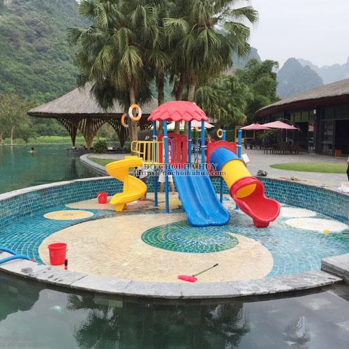 Cầu trượt liên hoàn cho bể bơi cao cấp HB12-012