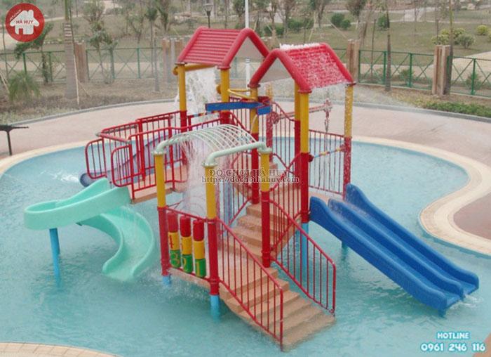 Cầu trượt liên hoàn cho bể bơi giá rẻ HB12-004