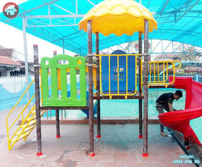 Bộ cầu trượt cho bể bơi giá rẻ đẹp tại Hà Nội HB12-011