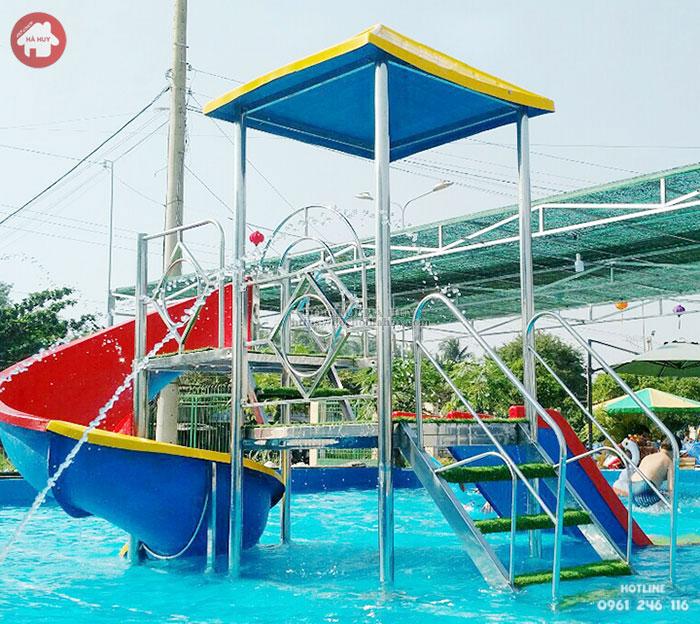 Mẫu cầu trượt hồ bơi đẹp giá rẻ cho bé vui chơi HB12-002