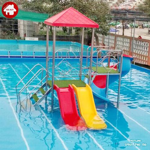 Cầu trượt bể bơi đẹp giá rẻ