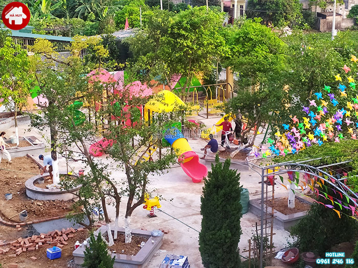 Sản xuất lắp đặt đồ chơi mầm non cho trường mầm non tại Ninh Bình-2