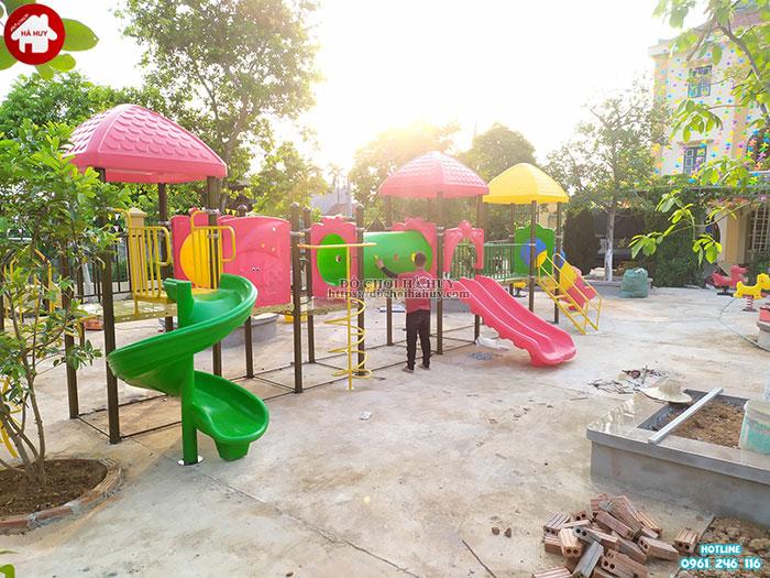 Sản xuất lắp đặt đồ chơi mầm non cho trường mầm non tại Ninh Bình-5