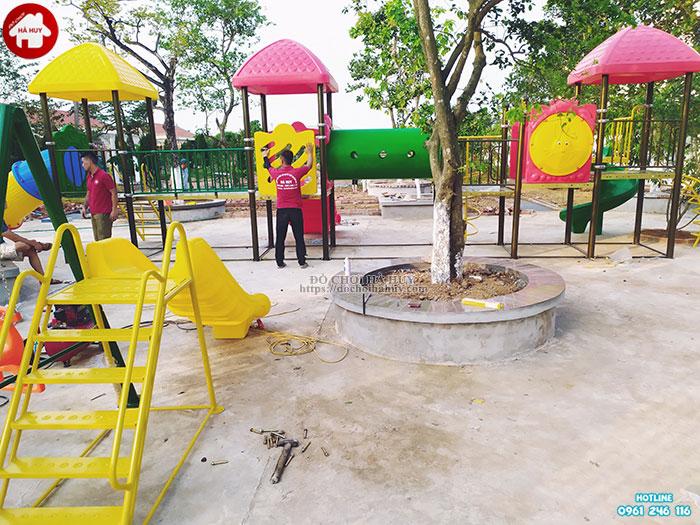 Sản xuất lắp đặt đồ chơi mầm non cho trường mầm non tại Ninh Bình-6