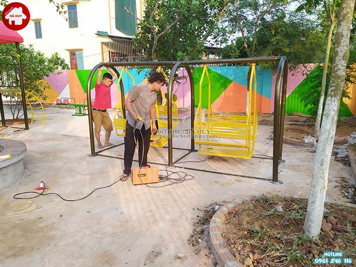 Sản xuất lắp đặt đồ chơi mầm non cho trường mầm non tại Ninh Bình-7