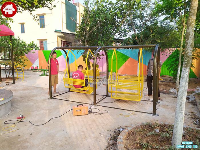 Sản xuất lắp đặt đồ chơi mầm non cho trường mầm non tại Ninh Bình-8
