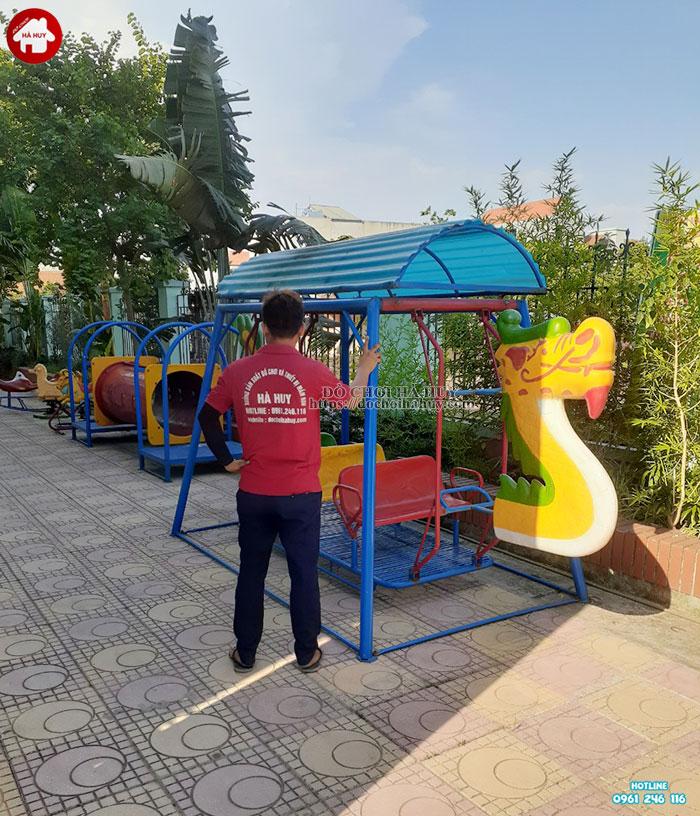 Lắp đặt bổ sung đồ chơi ngoài trời cho trường mầm non tại Hoài Đức-1