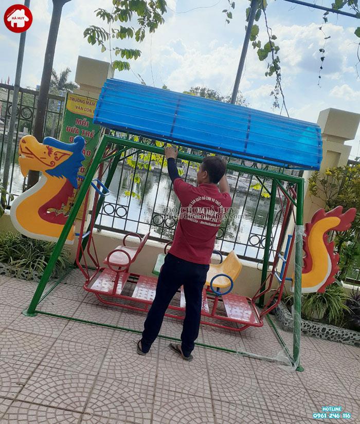 Lắp đặt bổ sung đồ chơi ngoài trời cho trường mầm non tại Hoài Đức-3