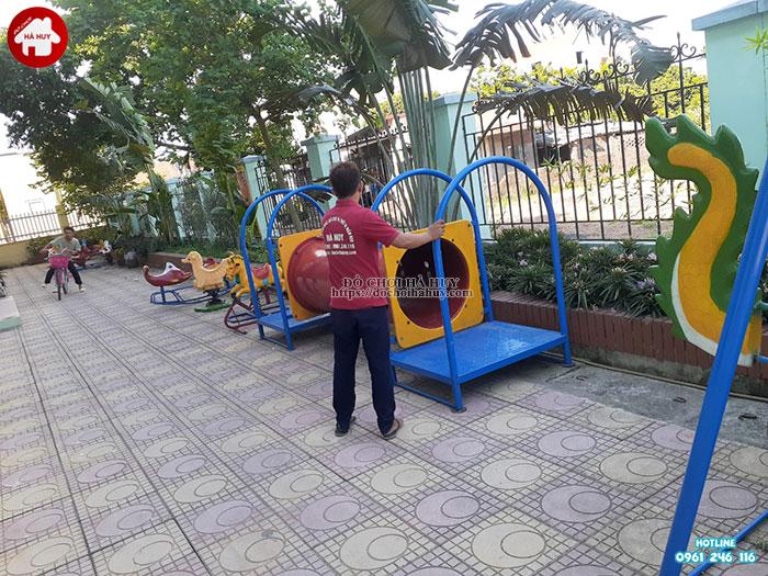 Lắp đặt bổ sung đồ chơi ngoài trời cho trường mầm non tại Hoài Đức-4