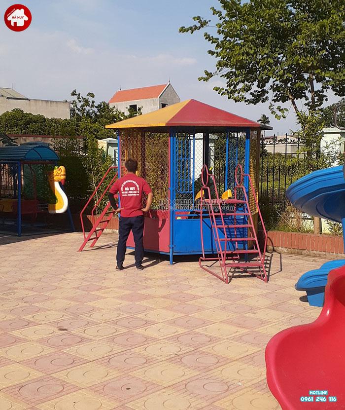 Lắp đặt bổ sung đồ chơi ngoài trời cho trường mầm non tại Hoài Đức-5