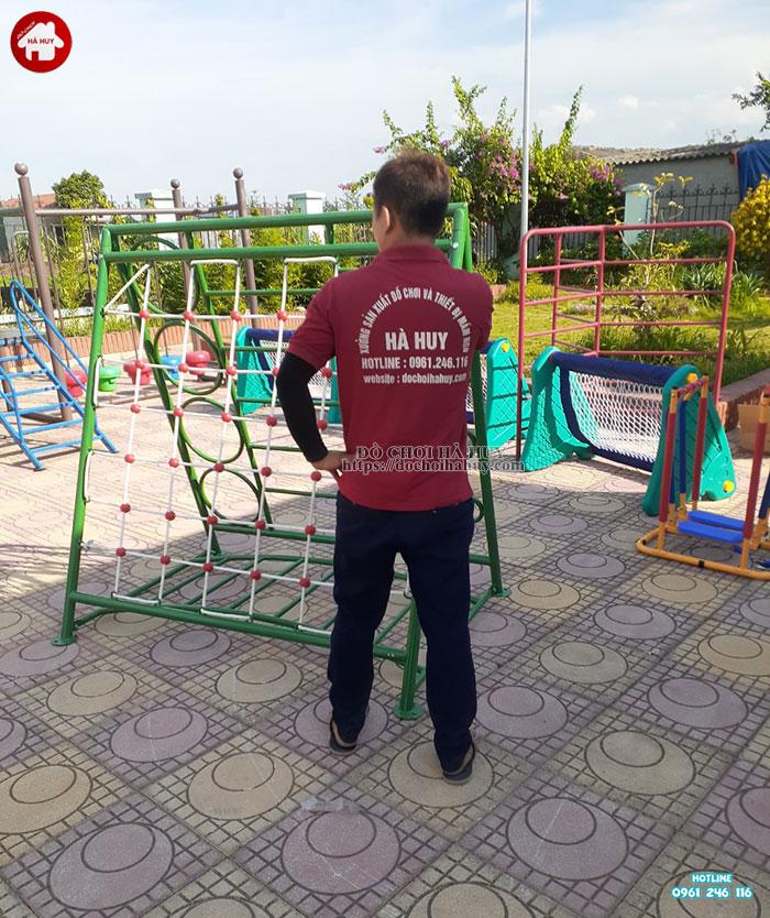 Lắp đặt bổ sung đồ chơi ngoài trời cho trường mầm non tại Hoài Đức-7