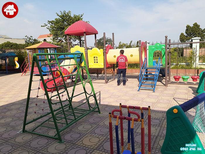 Lắp đặt bổ sung đồ chơi ngoài trời cho trường mầm non tại Hoài Đức-8