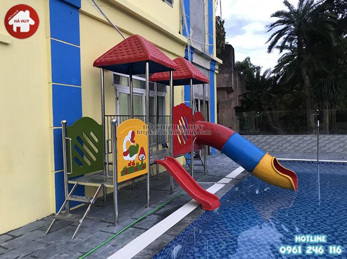 Mẫu cầu trượt bể bơi chất lượng cao HB12-014
