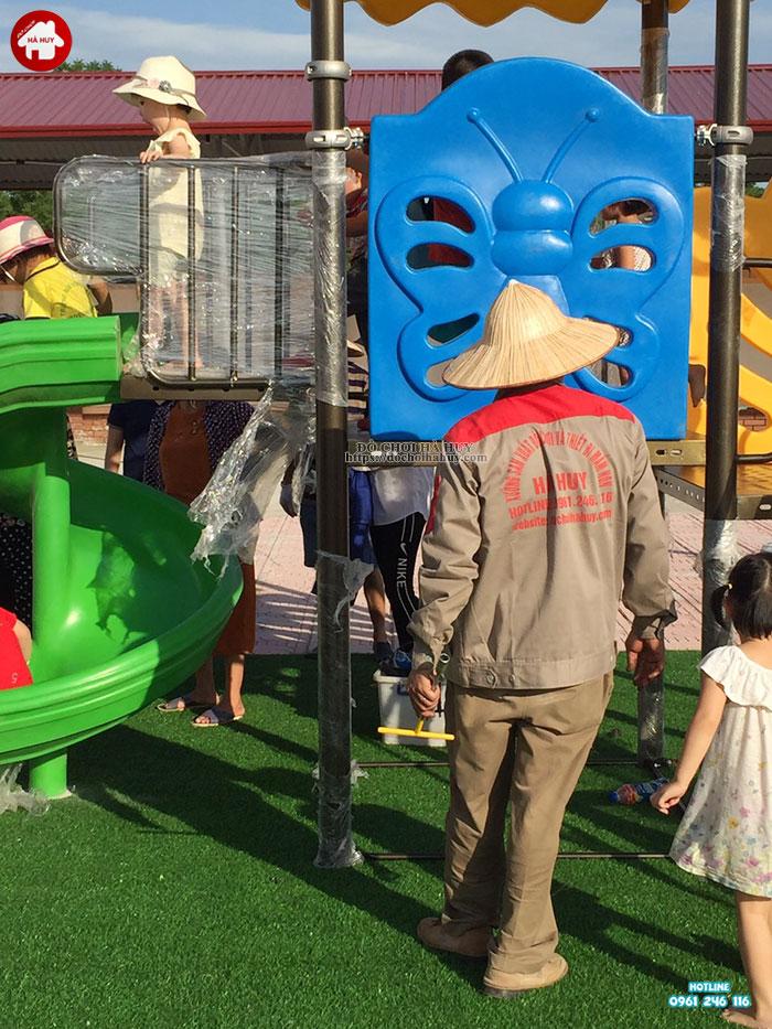 Sản xuất lắp đặt đồ chơi ngoài trời trường mầm non tại Bắc Ninh-3