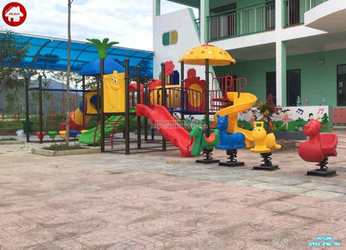 Sản xuất lắp đặt đồ chơi ngoài trời trường mầm non tại Huế-10