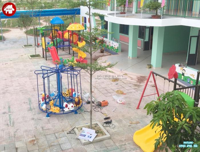 Sản xuất lắp đặt đồ chơi ngoài trời trường mầm non tại Huế-11