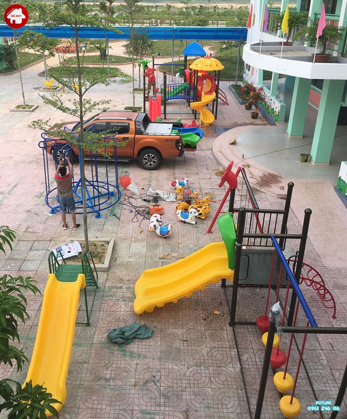 Sản xuất lắp đặt đồ chơi ngoài trời trường mầm non tại Huế-12