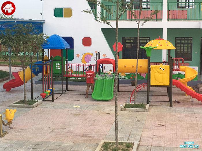 Sản xuất lắp đặt đồ chơi ngoài trời trường mầm non tại Huế-3