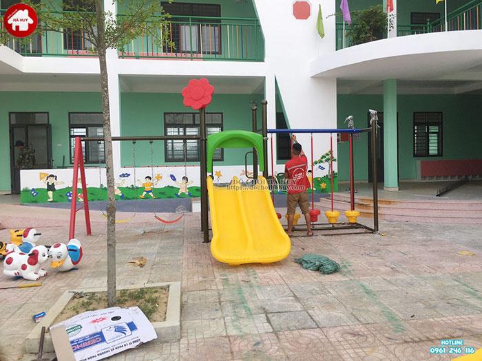 Sản xuất lắp đặt đồ chơi ngoài trời trường mầm non tại Huế-5