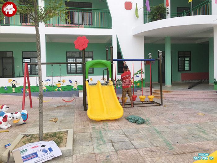 Sản xuất lắp đặt đồ chơi ngoài trời trường mầm non tại Huế-6