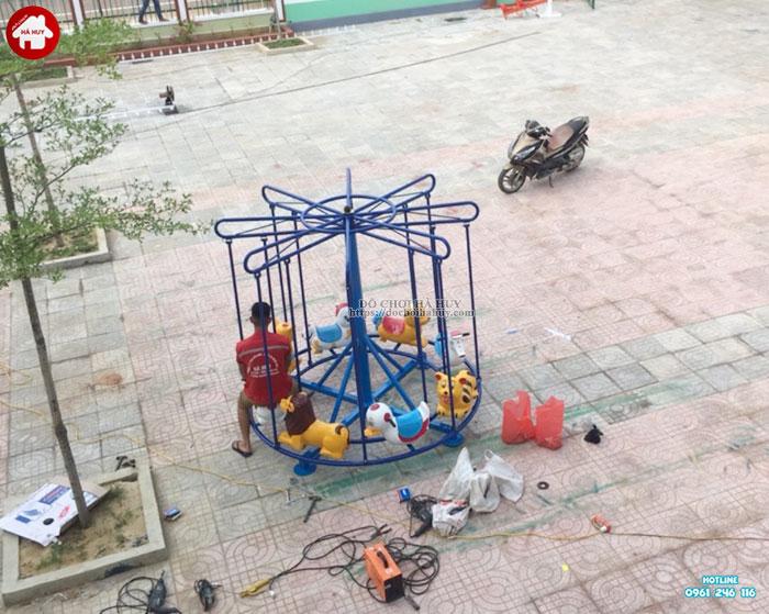 Sản xuất lắp đặt đồ chơi ngoài trời trường mầm non tại Huế-7