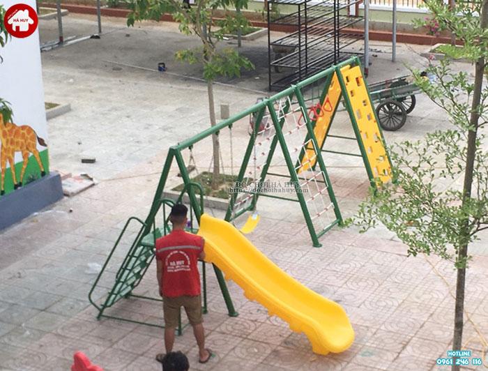 Sản xuất lắp đặt đồ chơi ngoài trời trường mầm non tại Huế-8