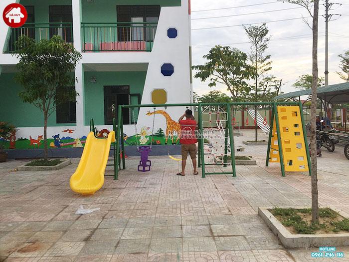 Sản xuất lắp đặt đồ chơi ngoài trời trường mầm non tại Huế-9