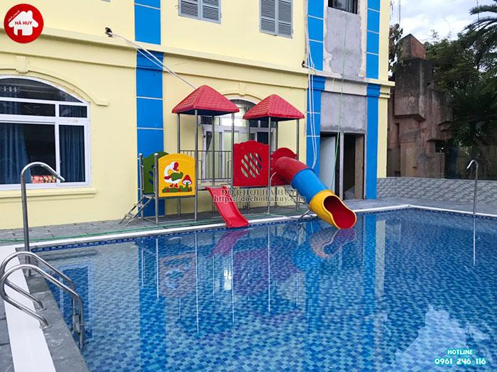 Tư vấn, báo giá cầu trượt bể bơi của đồ chơi Hà Huy-1