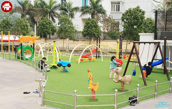 Tư vấn lắp đặt khu vui chơi ngoài trời cho trẻ em tại khu chung cư-3