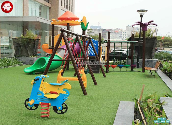 Tư vấn lắp đặt khu vui chơi ngoài trời cho trẻ em tại khu chung cư-4