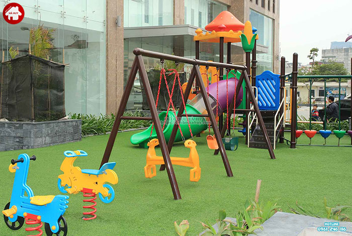 Tư vấn lắp đặt khu vui chơi ngoài trời cho trẻ em tại khu chung cư-5