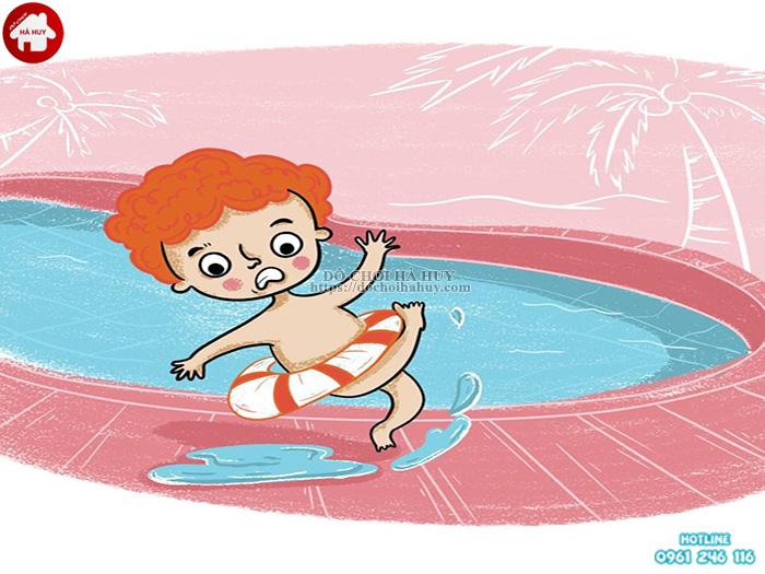 Cần lưu ý những gì khi cho bé chơi cầu trượt bể bơi?