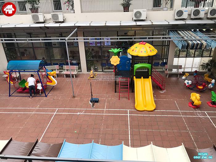 Sản xuất đồ chơi ngoài trời cho sân chơi tại trạm y tế huyện Đông Anh-1