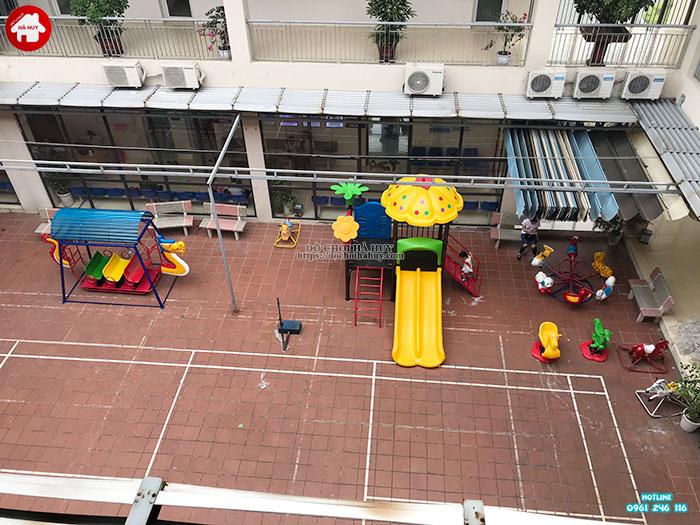 Sản xuất đồ chơi ngoài trời cho sân chơi tại trạm y tế huyện Đông Anh-2