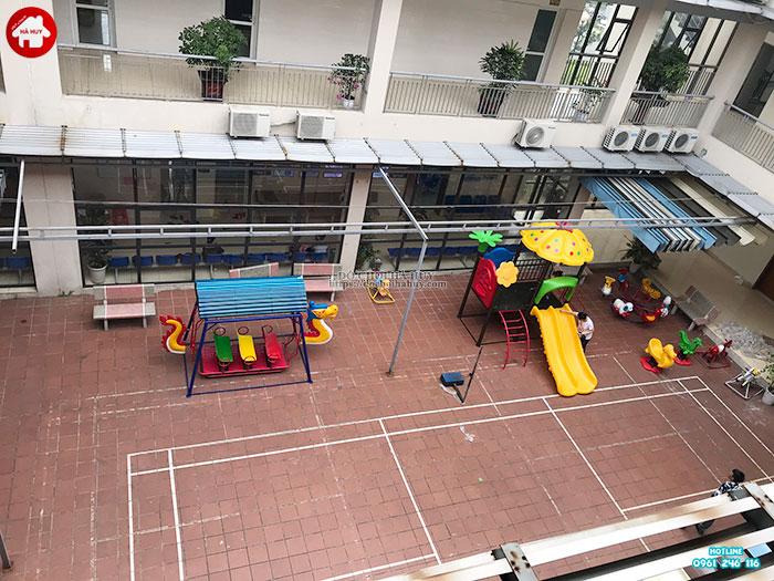 Sản xuất đồ chơi ngoài trời cho sân chơi tại trạm y tế huyện Đông Anh-3