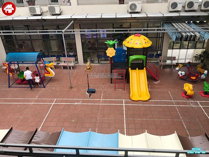 Sản xuất đồ chơi ngoài trời cho sân chơi tại trạm y tế huyện Đông Anh-4