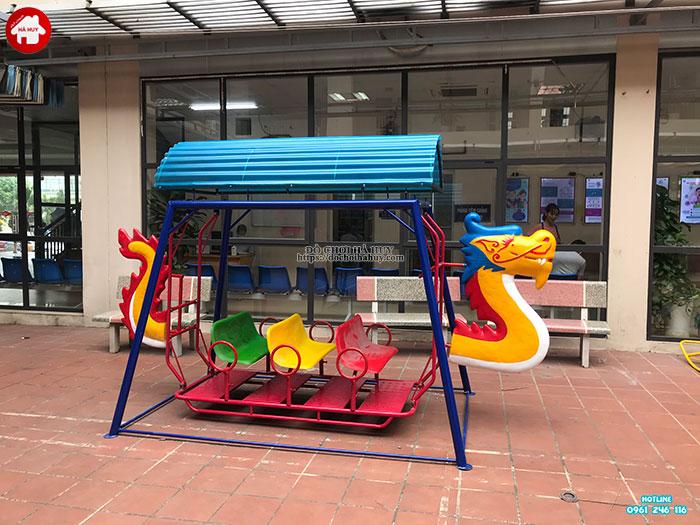 Sản xuất đồ chơi ngoài trời cho sân chơi tại trạm y tế huyện Đông Anh-5