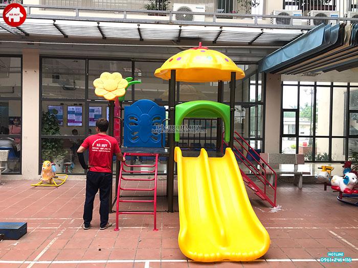 Sản xuất đồ chơi ngoài trời cho sân chơi tại trạm y tế huyện Đông Anh-7